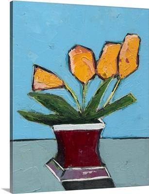 Graphic Vase of Flowers III