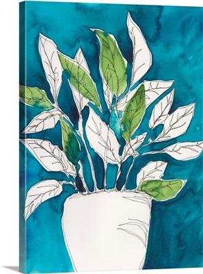 Green Leaves In Pots II