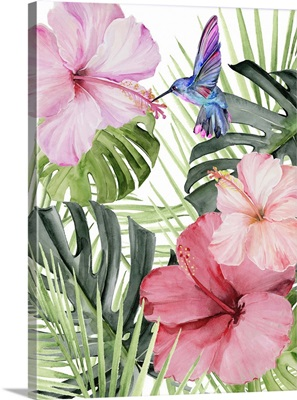Hibiscus & Hummingbird I