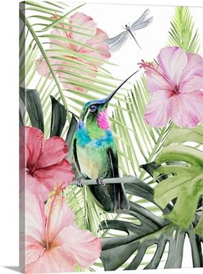 Hibiscus & Hummingbird II