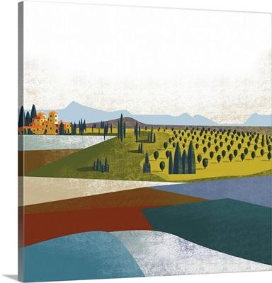 Illustrated Italian Landscape II