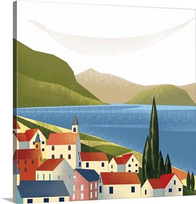 Illustrated Italian Landscape VIII
