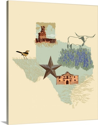 Illustrated State - Texas