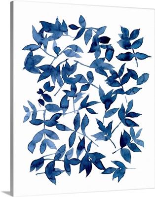 Indigo Fallen Leaves II