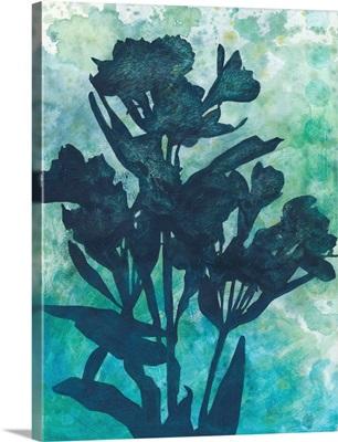 Indigo Floral Silhouette I
