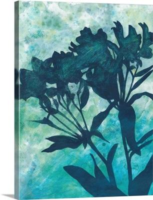 Indigo Floral Silhouette II