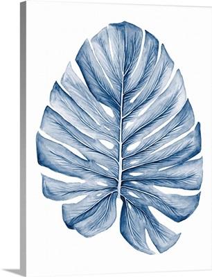 Indigo Tropical Leaves I