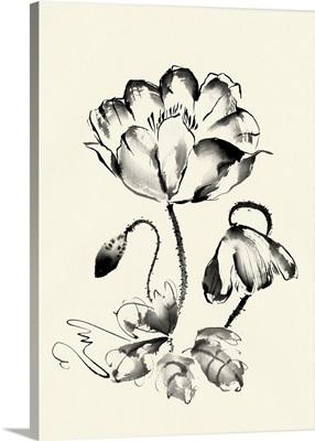 Ink Wash Floral IV - Poppy