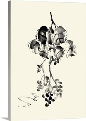 Ink Wash Floral V - Grapes