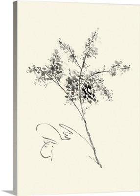 Ink Wash Floral VII - Forsythia