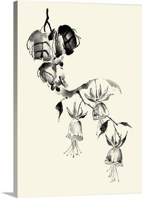 Ink Wash Floral VIII - Fuchsia