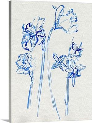 Inky Daffodils I