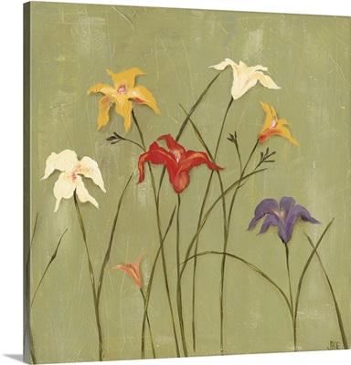 Jeweled Lilies I