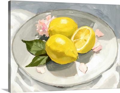 Lemons On A Plate I