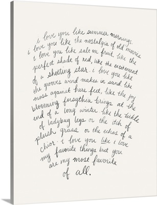 Letter To A Lover I