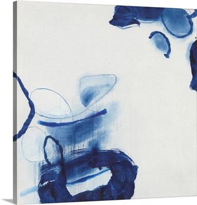 Minimalist Blue & White I