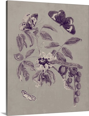 Nature Study in Plum and Taupe II
