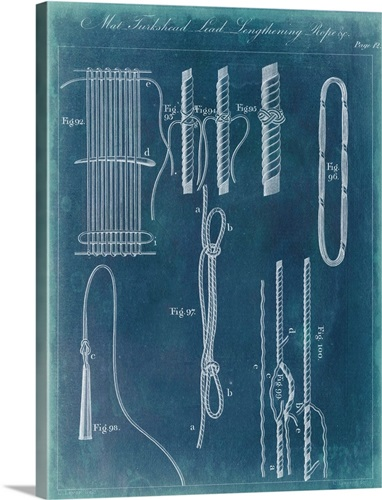 Nautical detail blueprint iii wall art canvas prints framed prints nautical detail blueprint iii malvernweather Gallery