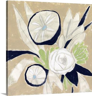 Navy Bouquet Sketch I