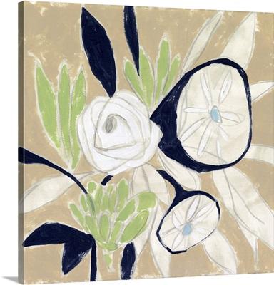 Navy Bouquet Sketch II