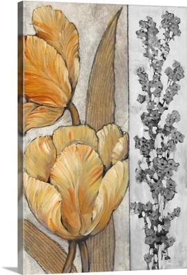 Ochre and Grey Tulips III