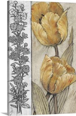 Ochre and Grey Tulips IV