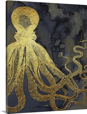 Octopus Ink Gold & Blue I