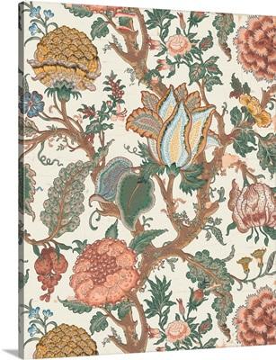 Pastel Jacobean Floral I
