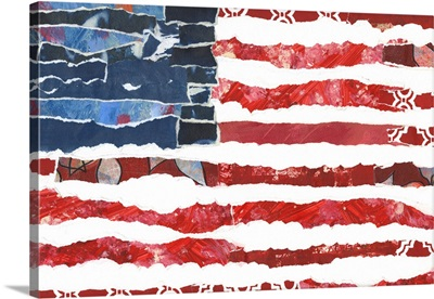 Patriotic Collage Flag I