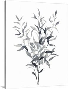 Paynes Grey Botanicals I Wall Art, Canvas Prints, Framed