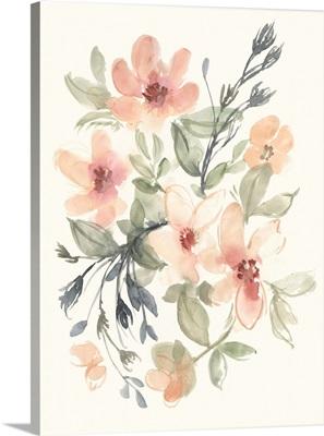 Peachy Pink Blooms II