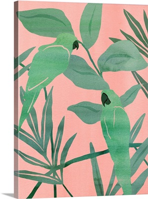 Pink And Green Birds Of Paradise I