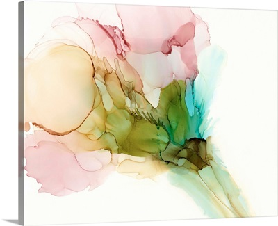 Pink & Turquoise Bloom II