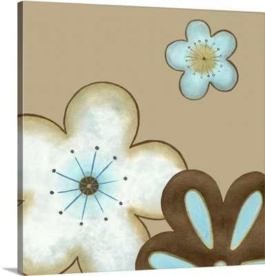 Pop Blossoms in Blue I