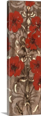 Poppies on Damask I