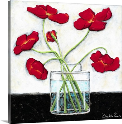 Printed Modern Poppies II