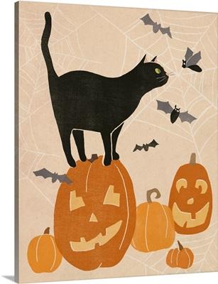 Pumpkin Patch Cats I