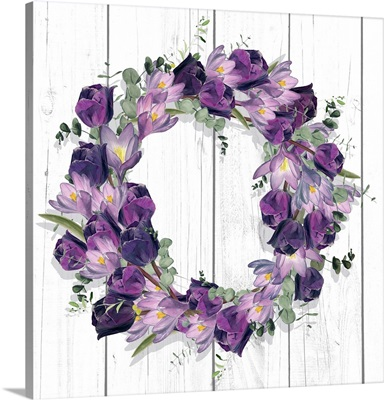 Purple Tulip Wreath I