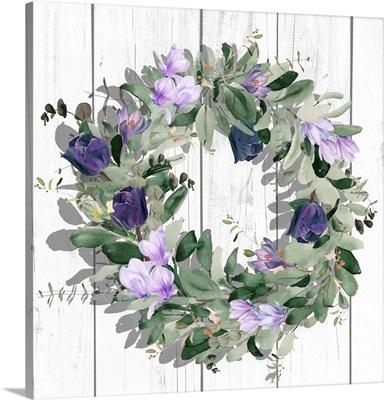 Purple Tulip Wreath II
