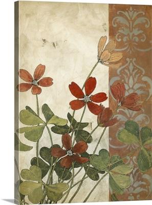 Red Antique Floral I