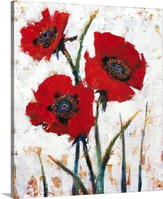 Red Poppy Fresco I