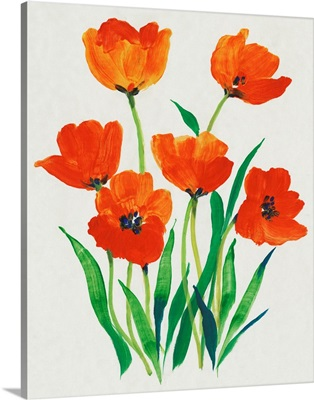 Red Tulips in Bloom I