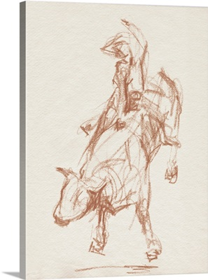 Rodeo Gestures In Sepia I