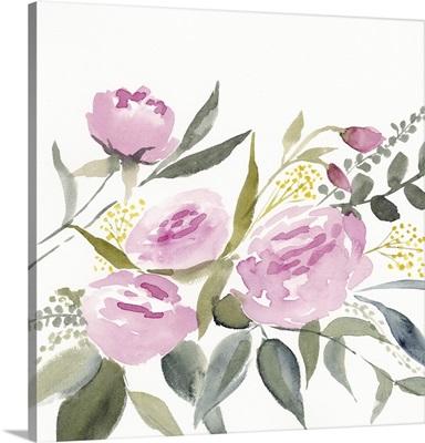 Rosebud Watercolor I