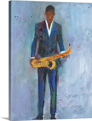 Sax in a Blue Suit