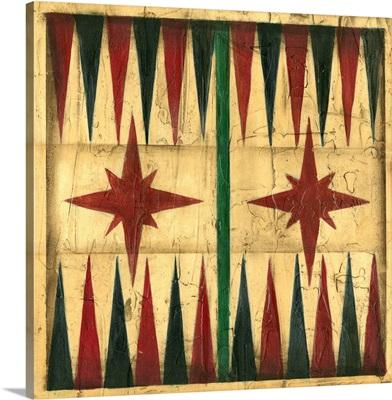 Small Antique Backgammon