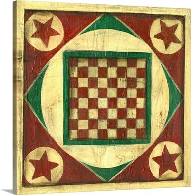 Small Antique Checkers