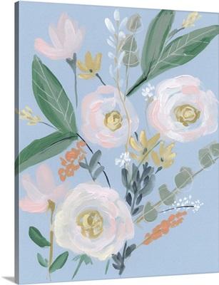 Spring Bouquet on Blue II