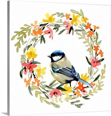 Springtime Wreath & Bird II