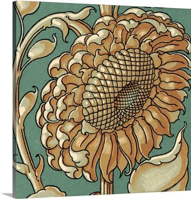 Sunflower Woodblock II